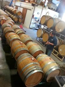 More barrels than winery. Final taste before final blending.